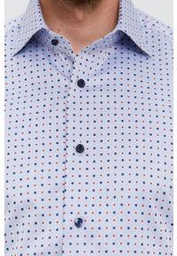 Emanuel Berg - Koszula bawełniana. Typ kołnierza: kołnierzyk klasyczny. Kolor: niebieski. Materiał: bawełna. Długość rękawa: długi rękaw. Długość: długie. Styl: klasyczny