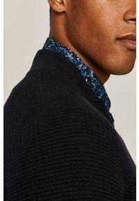 Niebieski sweter rozpinany medicine casualowy, na co dzień