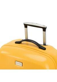 Wittchen - Zestaw walizek z polikarbonu jednokolorowych. Kolor: żółty. Materiał: guma