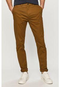 Scotch & Soda - Spodnie. Kolor: zielony. Materiał: tkanina. Wzór: gładki