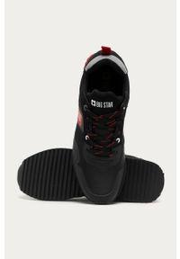 Czarne sneakersy Big-Star na sznurówki, z okrągłym noskiem