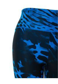 REDEMPTION ATHLETIX - Niebieskie leginsy ze zwierzęcym wzorem. Kolor: niebieski. Materiał: nylon. Wzór: motyw zwierzęcy