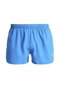Niebieskie spodenki sportowe Asics w kolorowe wzory
