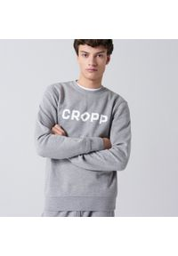 Cropp - Bluza basic z nadrukiem - Jasny szary. Kolor: szary. Wzór: nadruk #1