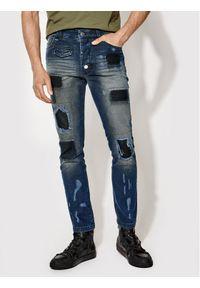 Rage Age Jeansy Slim Fit Proton 1 Granatowy Slim Fit. Kolor: niebieski