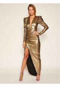 Złota sukienka wieczorowa Babylon