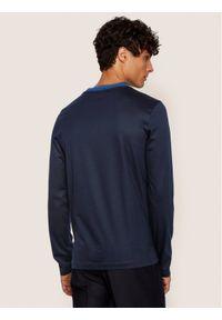 Niebieska koszulka z długim rękawem BOSS