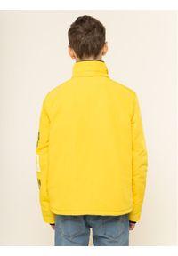 Calvin Klein Jeans Kurtka puchowa Stamp Logo IB0IB00375 Żółty Regular Fit. Kolor: żółty. Materiał: puch