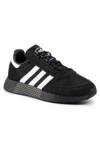 Czarne półbuty Adidas casualowe, z cholewką