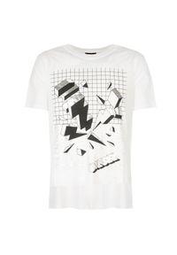 T-shirt Diesel na co dzień, z nadrukiem, casualowy
