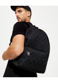 Alexander McQueen - ALEXANDER MCQUEEN - Plecak z nadrukiem w czaszki. Kolor: czarny. Materiał: materiał. Wzór: nadruk