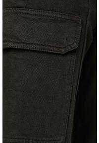 Czarne spodnie materiałowe TALLY WEIJL z podwyższonym stanem