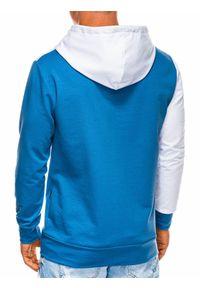 Niebieska bluza Ombre Clothing na co dzień, z kapturem