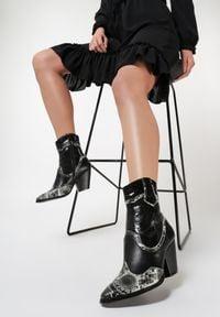 Renee - Czarne Kowbojki Pima. Kolor: czarny