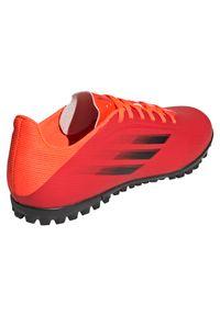 Adidas - Buty piłkarskie męskie adidas X Speedflow.4 TF FY3336. Zapięcie: sznurówki. Materiał: syntetyk. Szerokość cholewki: normalna. Sport: piłka nożna