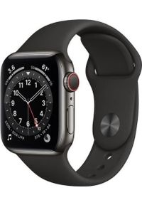 APPLE - Smartwatch Apple Watch Series 6 GPS + Cellular 40mm Gray Steel Black Sport Czarny (M06X3WB/A). Rodzaj zegarka: smartwatch. Kolor: czarny. Styl: sportowy