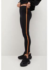 Czarne legginsy mango z podwyższonym stanem
