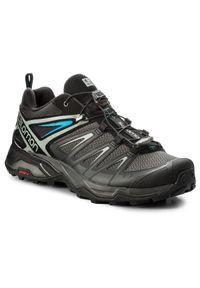 Czarne buty trekkingowe salomon trekkingowe