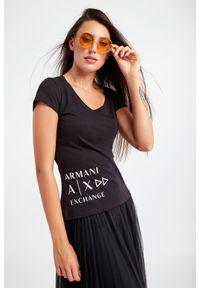 Armani Exchange - T-SHIRT ARMANI EXCHANGE. Materiał: bawełna. Długość rękawa: krótki rękaw. Długość: krótkie. Wzór: nadruk