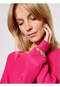 Kontatto Sweter 3M7225 Różowy Relaxed Fit. Kolor: różowy