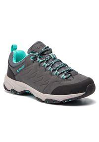 Szare buty trekkingowe Hi-tec z cholewką, trekkingowe
