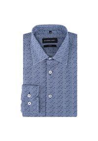 Niebieska koszula Giacomo Conti z długim rękawem, długa