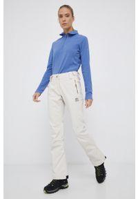 Rip Curl - Spodnie snowboardowe. Kolor: beżowy. Materiał: materiał. Wzór: gładki. Sport: snowboard