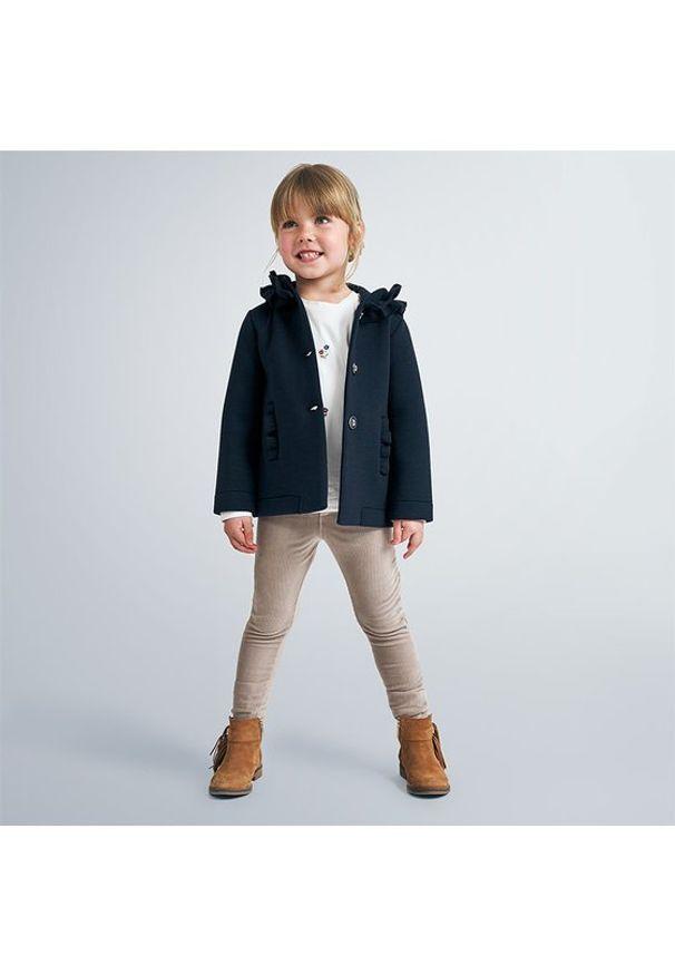 Mayoral Spodnie materiałowe 714 Brązowy Regular Fit. Kolor: brązowy. Materiał: materiał