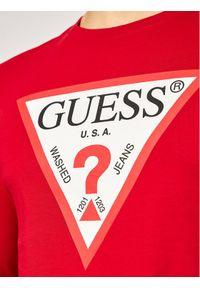 Czerwona koszulka z długim rękawem Guess