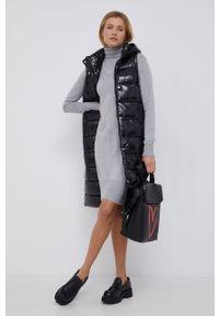 Pepe Jeans - Sukienka z domieszką wełny Edna. Okazja: na co dzień. Typ kołnierza: golf. Kolor: szary. Materiał: wełna. Długość rękawa: długi rękaw. Typ sukienki: proste. Styl: casual