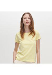 Reserved - T-shirt z bawełny organicznej - Żółty. Kolor: żółty. Materiał: bawełna