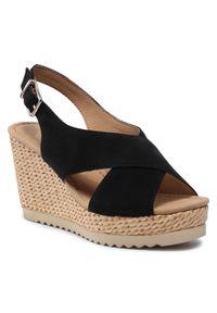 Czarne sandały Gabor