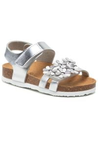 Scholl - Sandały SCHOLL - Daisy Kid F29647 1057 270 Silver/Argent. Kolor: srebrny. Materiał: skóra ekologiczna, materiał