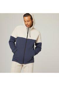 DOMYOS - Bluza fitness. Materiał: bawełna, poliester, materiał, elastan. Wzór: ze splotem. Sezon: zima. Sport: fitness