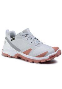 Szare buty trekkingowe salomon z cholewką, Gore-Tex