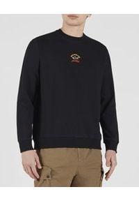 PAUL & SHARK - Czarna bluza z logo. Kolor: czarny. Materiał: bawełna. Długość rękawa: długi rękaw. Długość: długie. Wzór: nadruk. Styl: klasyczny, sportowy