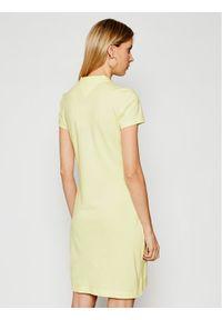Żółta sukienka letnia TOMMY HILFIGER prosta, casualowa