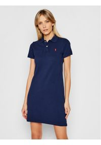 Niebieska sukienka dzianinowa Polo Ralph Lauren casualowa, na co dzień