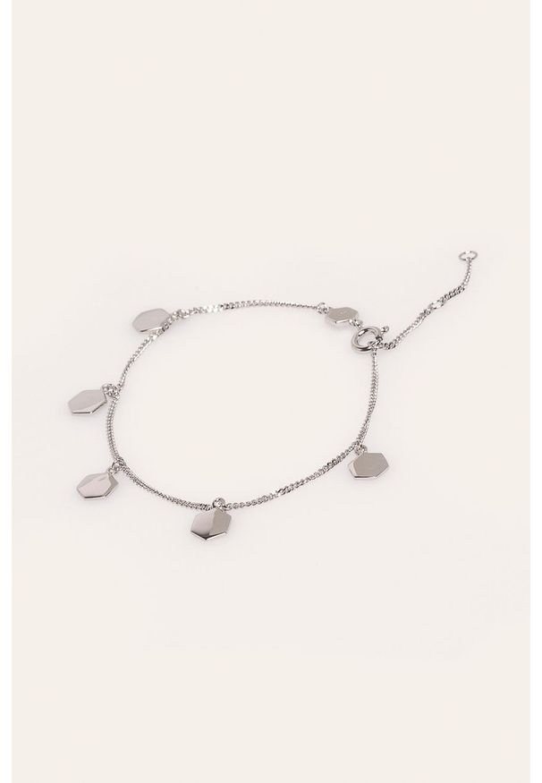 Srebrna bransoletka Cluse metalowa