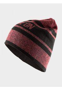 Czerwona czapka zimowa outhorn melanż
