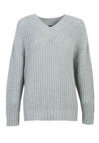 Turkusowy sweter TOP SECRET casualowy, długi