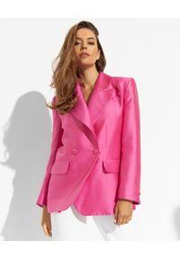 LOVE & ROSE - Różowa marynarka Bacanora. Kolor: różowy, wielokolorowy, fioletowy