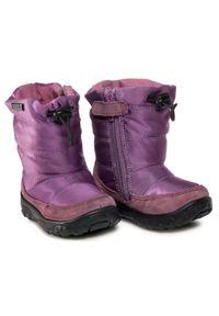 Fioletowe buty zimowe Naturino na spacer