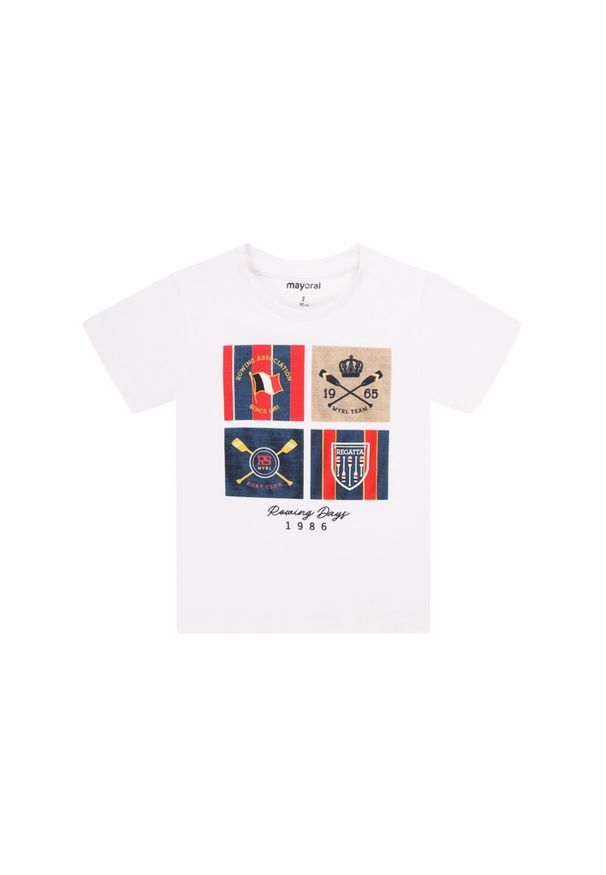 Biały t-shirt Mayoral