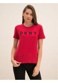 Czerwony t-shirt DKNY