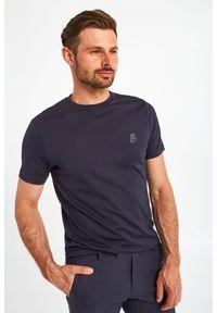 Karl Lagerfeld - T-SHIRT KARL LAGERFELD. Materiał: bawełna, tkanina, guma. Wzór: aplikacja