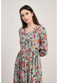 Marie Zélie - Sukienka Hypatia Frullania. Materiał: tkanina, bawełna, wiskoza, materiał