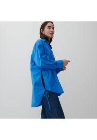 Reserved - Bawełniana koszula - Niebieski. Kolor: niebieski. Materiał: bawełna