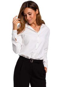 Biała koszula MOE klasyczna, z klasycznym kołnierzykiem