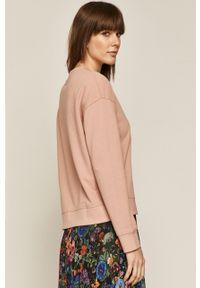 Różowa bluza medicine casualowa, bez kaptura